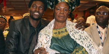 Adebayor and his mother Alice when they were still on good terms.