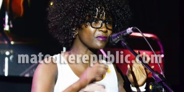 Kansiime at the show.
