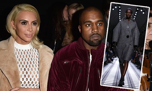 Kim and Kanye were in the front row as Aamito opened for Balenciaga.