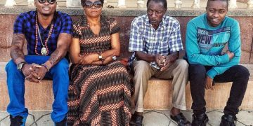 Pallaso, their mother, Mzee Mayanja and AK47 on Women's Day, just eight days before he passed away.