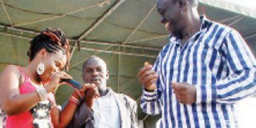 Kisakye and Dr Besigye during the campaigns.