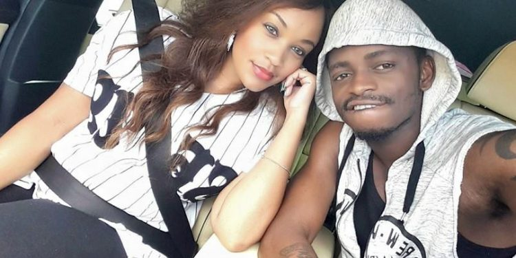 A pregnant Zari and her beau Diamond Platnumz.