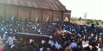 The sea of people that turned up for Kisakye's burial.