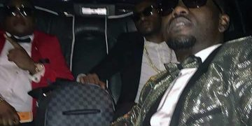 The men of the night, Ivan Semwanga, Ed Cheune and King Lawrence arrive at Liquid Silk in their Limo.