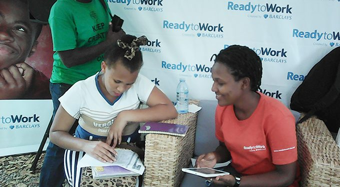 A snapshot of a Barclays ReadytoWork training in sessions