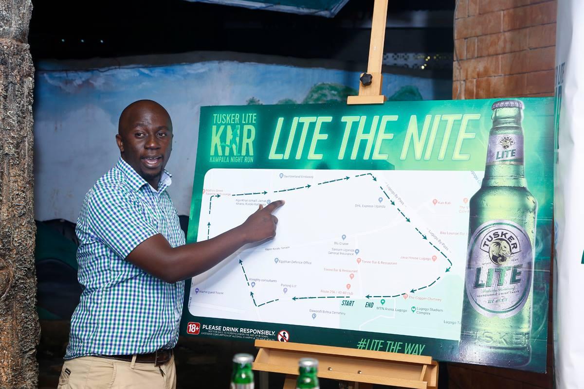 One of the organisers,Ronarld Kivumbi explains details of the route.