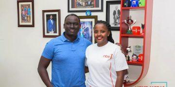 Next Media CEO Kin Kariisa with new recruit Sheila Nduhukire.