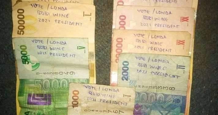 writing on money