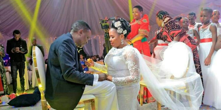 Judith Babirye on the day she married Sebulime.