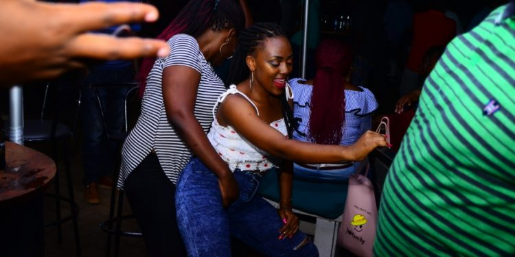 Revellers dancing to the Utake mix. PHOTOS BY ASIIMWE VINCENT SMOKY/Matooke Republic.