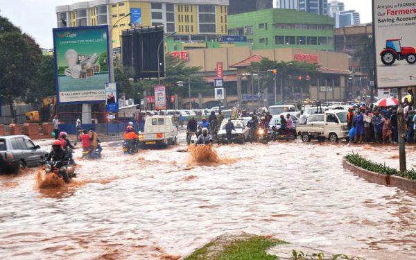 When it rains, Kampala becomes water-logged. COURTESY PHOTO.