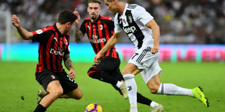Juventus' Cristiano Ronalso in action against AC Milan recently. Juventus are in fine form and we pit it to keep up their winning streak.