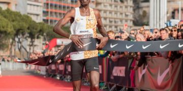 Joshua Cheptegei won Gold yesterday and set a new World Record in Monaco.