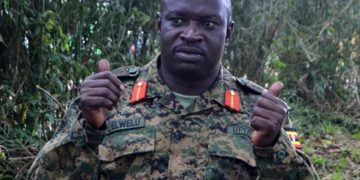 UPDF Commander of Land Forces Lt. Gen. Peter Elwelu.