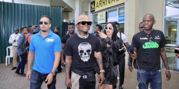 Harmonize on at Entebbe International Airport. PHOTOS BY ASIIMWE VINCENT SMOKY/Matooke Republic.