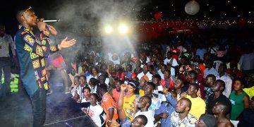 Jose Chameleone on stage in Masaka. PHOTOS BY ASIIMWE VINCENT SMOKY/Matooke Republic.