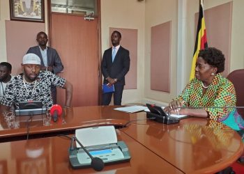 Eddy Kenzo with Speaker of Parliament Rt Hon Rebecca Kadaga.