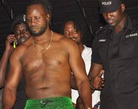 Bebe Cool on the day he was first pelted with bottles.
