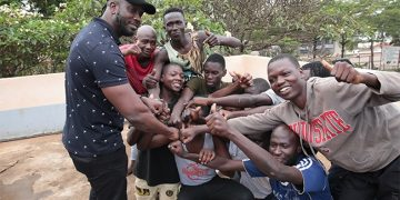 Bebe Cool with the released suspects.