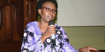 Health Minister Dr Jane Ruth Aceng.