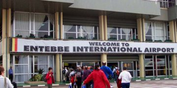 Entebbe International Airport.