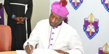 The new Archbishop of the Anglican Church of Uganda, His Grace Stephen Kazimba Mugalu.