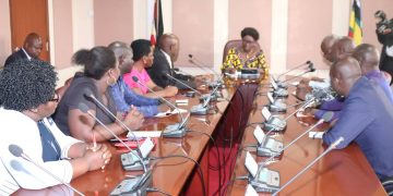 The Speaker meeting representatives of nurses and midwives.