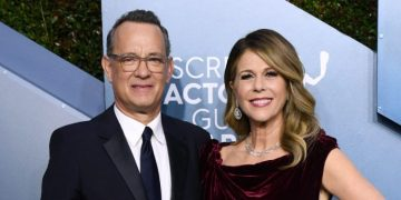 Tom Hanks and wife Rita Wilson.