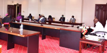 President Museveni in a meeting with members of the Inter-Religious Council at State House today. PHOTOS BY PPU.