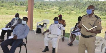 The Gomba COVID-19 District Taskforce in a meeting. COURTESY PHOTO.