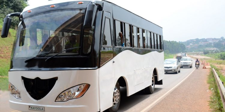 The Kayoola EVS Bus manufactured by Kiira Motors Corporation in Uganda. COURTESY PHOTOS.
