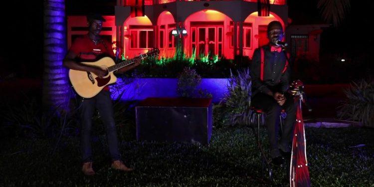Bobi Wine and Myko Ouma performing of the songs. PHOTOS BY NORMAN MWAMBAZI/Matooke Republic.
