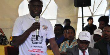 Justice Simon Byabakama, Chairman Electoral Commission. PHOTO BY NORMAN MWAMBAZI/Matooke Republic.