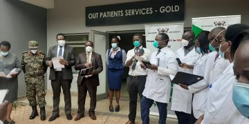A joint team of scientists from Makerere University, Mulago Hospital, UPDF and Joint Crinical Research Center. COURTESY PHOTO.