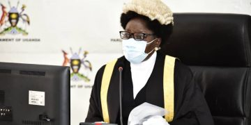 Speaker of Parliament Rt Hon Rebecca Kadaga.