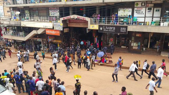 Mutaasa Kafeero Plaza on Luwum street.