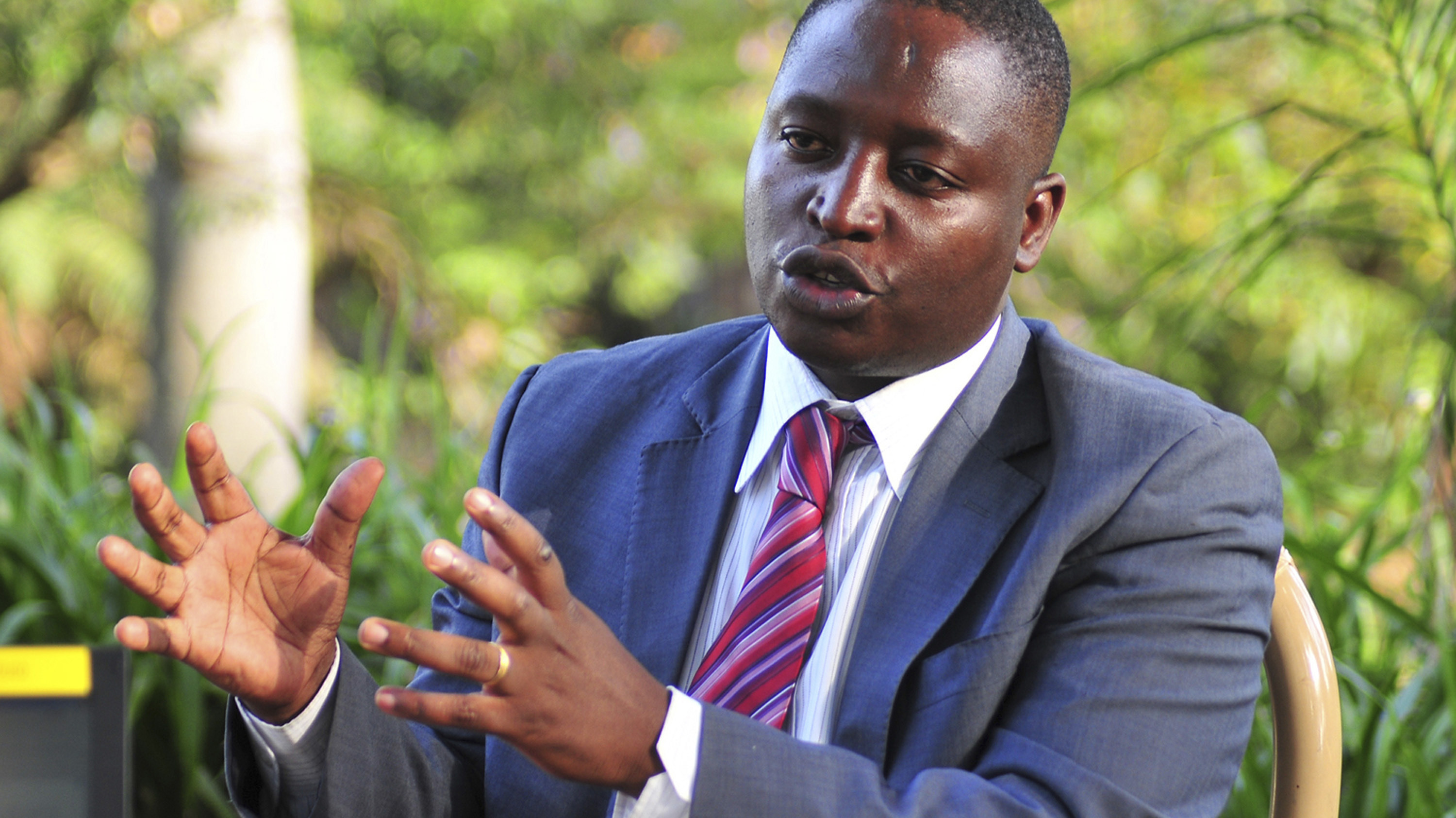 David Bahati, a member of Uganda's Parliament, is interviewed in 2011. Bahati was the driving force behind a controversial anti-gay bill that was approved Friday.